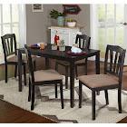 TMS Dining Set Metropolitan 5 Piece, Black
