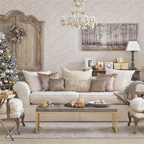 gold christmas living room beige living rooms christmas