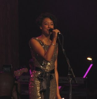 Corinne Bailey Rae performing at the concert