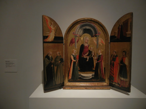 DSCN7975 _ Triptych of the Madonna and Child with Saints, c. 1440, Neri Di Bicci (1419-c. 1491), LACMA