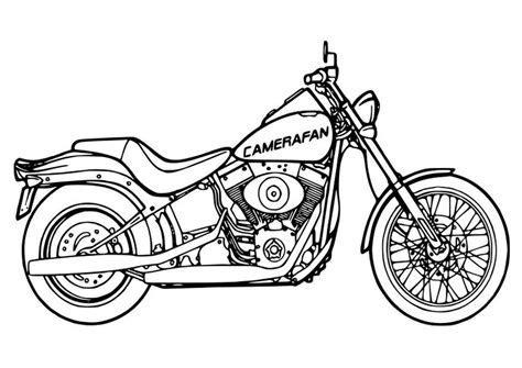 Kleurplaat moto   Afb 26354.