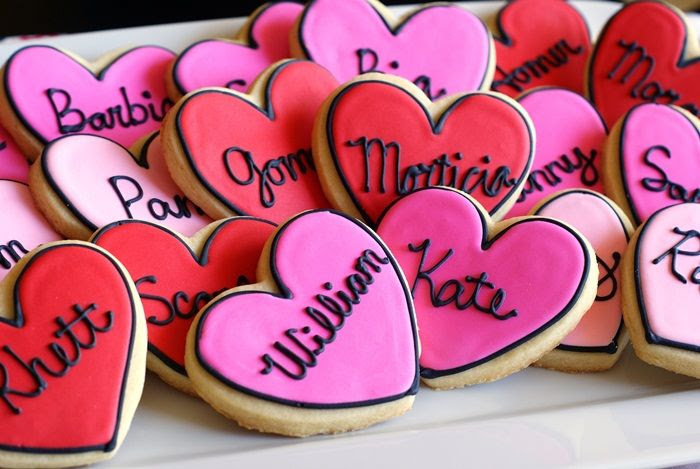 true love/famous couples decorated cookies