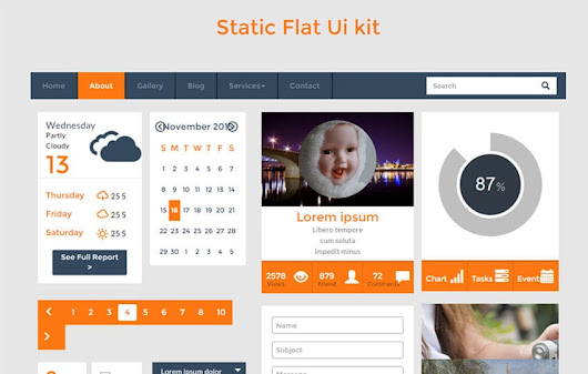 Static UI Kit a Flat Bootstrap Responsive Web Template by w3layouts