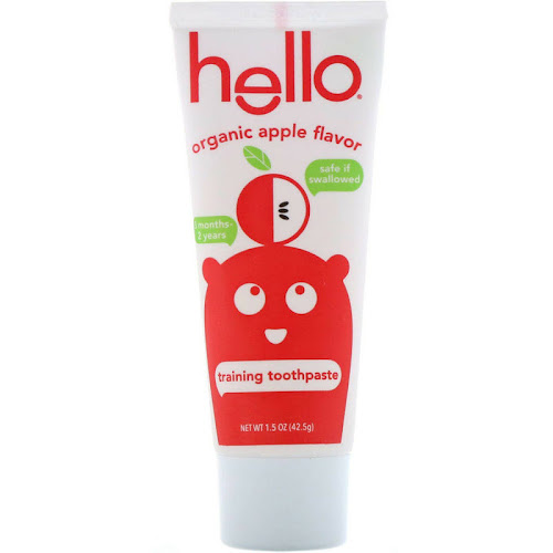 Hello Organic Apple Toddler Training Toothpaste - 1.5oz