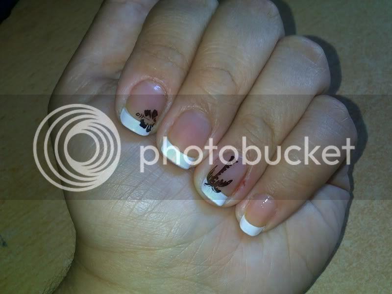 konad,nails,french