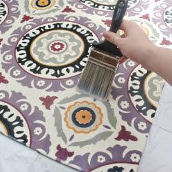DIY Fabric Rug tutorial