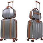 World Traveler Classique Lightweight Spinner 2-Piece Luggage Set Silver