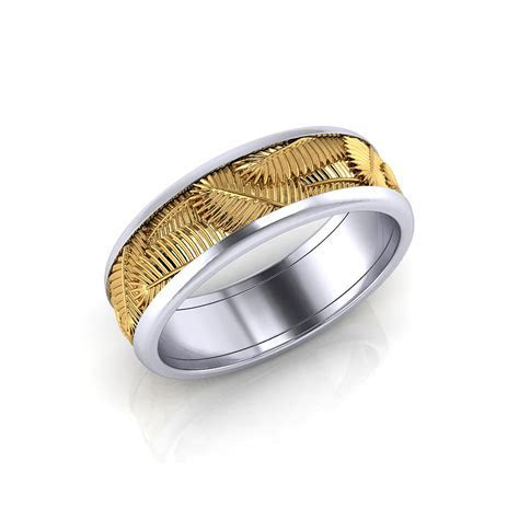 Palm Leaf Wedding Band   Jewelry Designs