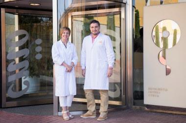 <p>Los investigadores que han liderado el estudio Marisol Soengas y David Olmeda. /CNIO</p>