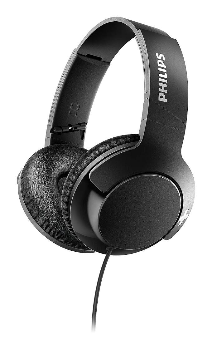 Philips SHL3175BK Bass+ Headphones with Mic (Black)