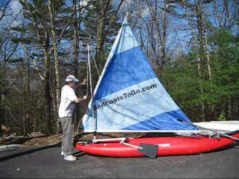 Assembly of SailboatsToGo kayak Sail Rig for Aire, Sevylor
