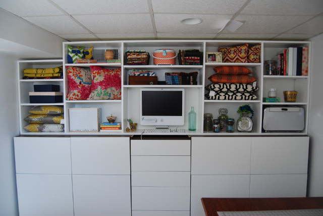 Janery Studio Makeover Part 9: Unifying the Faux Built-In Cabinet ...