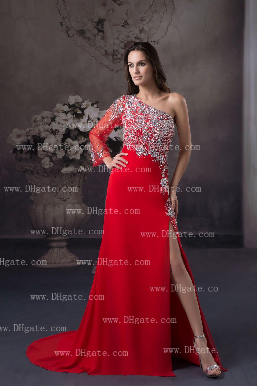 Shop red evening dress