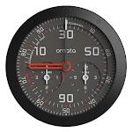 OMATA One GPS Bike Computer - KPH Gray