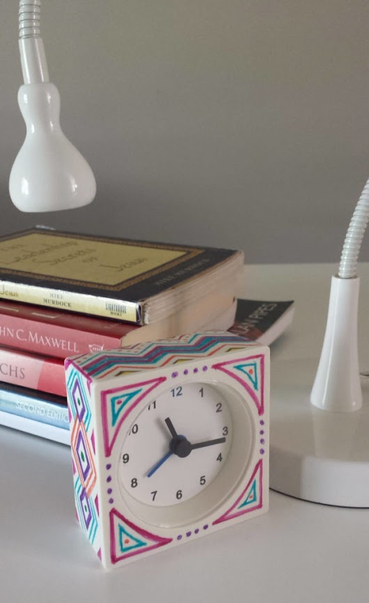 Ikea Hack- Sharpied Alarm Clock Diy · Fancymomma