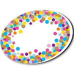 Ashley Productions Whiteboard Eraser Confetti Oval Magnetic