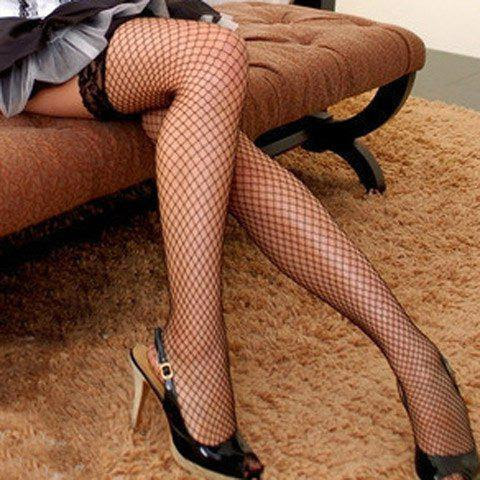 Sexy Style Voile and Perspective Lace Hem Stockings For Women