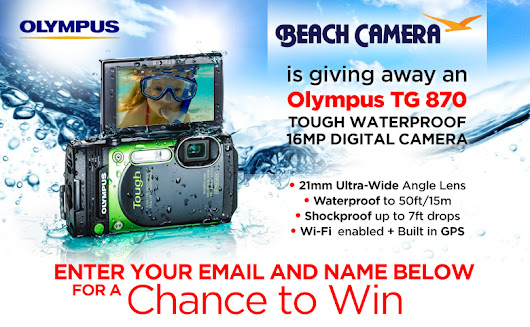 Beach Camera is giving away an Olympus TG 870!