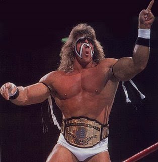 The Ultimate Warrior in action