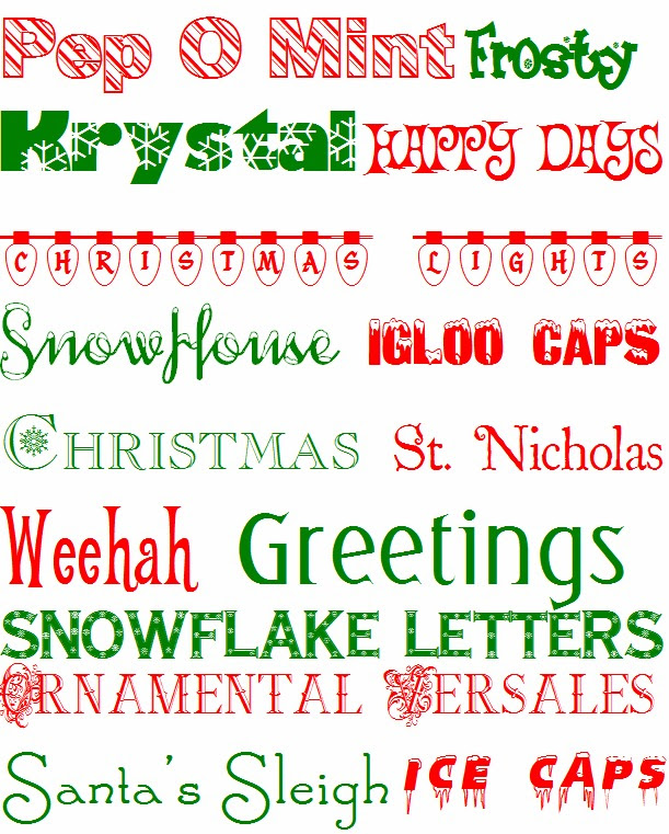 Free Holiday Fonts | So Pretty in Paint