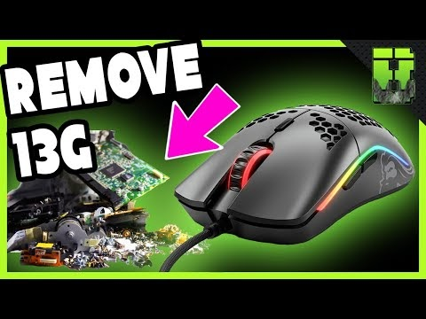 Glorious Model O Gaming Mouse Teardown Weight Reduction Mod \ ODIN