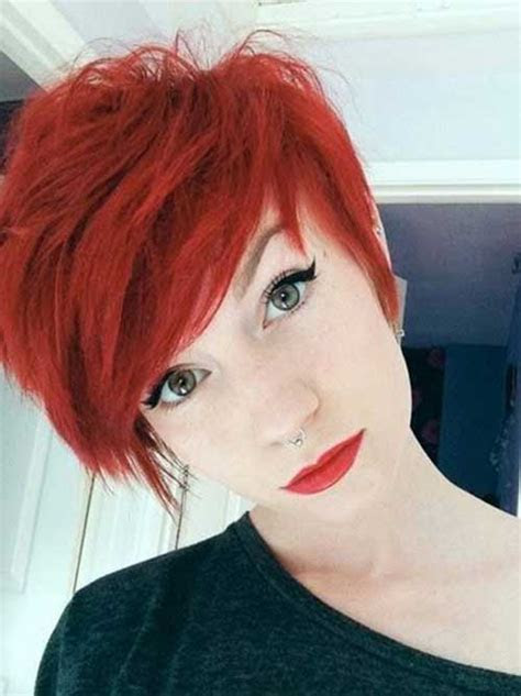 red pixie cut short hairstyles