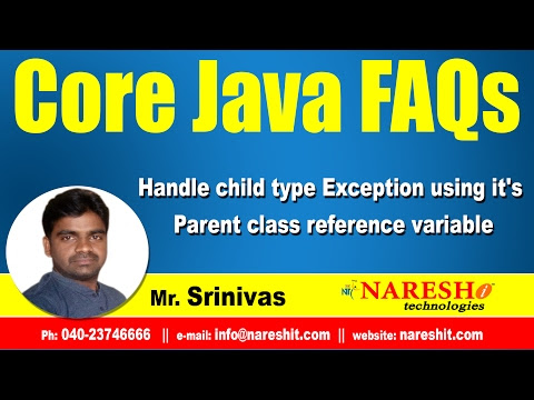 Handle child type Exception using it's Parent class reference variable? - Mostly Asked Java Interview Questions
