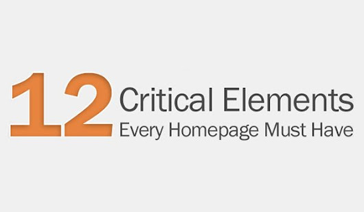 12 Critical Elements Your Website Homepage Must Have