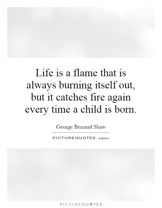 Life Is A Flame That Is Always Burning Itself Out But It