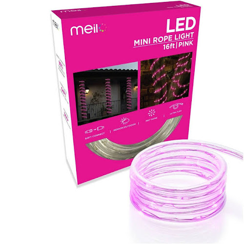 Google express meilo 16 ft true tech led mini rope light with 360 true tech led mini rope light with 360 degree directional shine 16 pink aloadofball Images