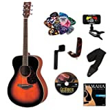 Yamaha FS720 Tobacco Sunburst Small Body Acoustic Guitar Bundle w/Legacy Kit (Tuner,DVD andMuch More)