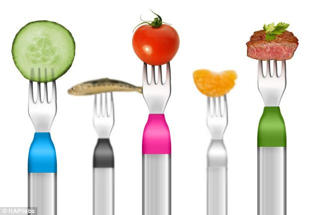 The smart fork can monitor any food, and warn user's if they are eating too quickly.