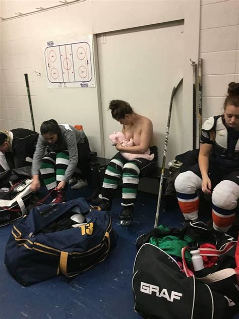 Hockey Player Nursing In the Locker Room Before the Game
