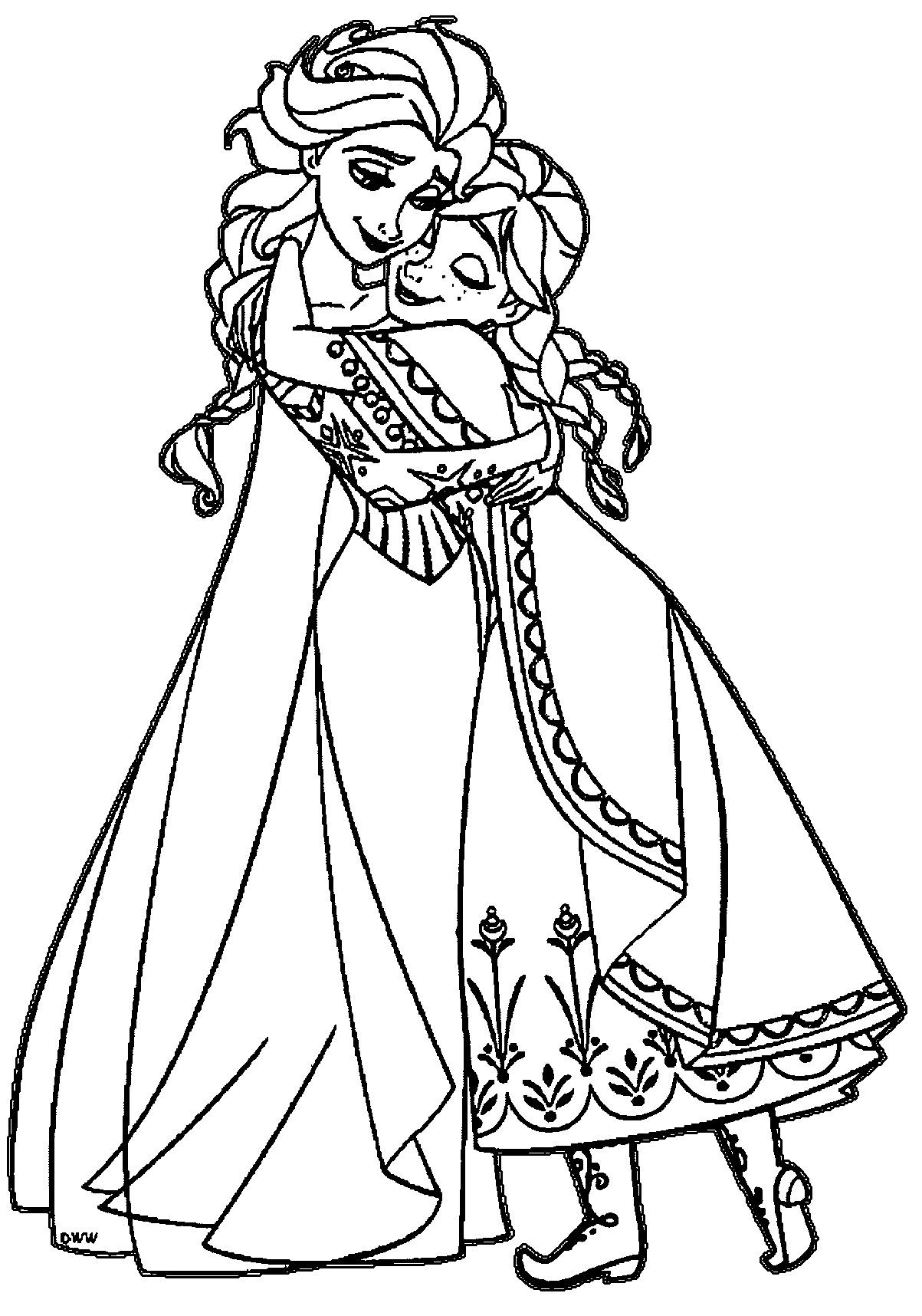 Princess Elsa And Anna Coloring Pages at GetColorings.com ...