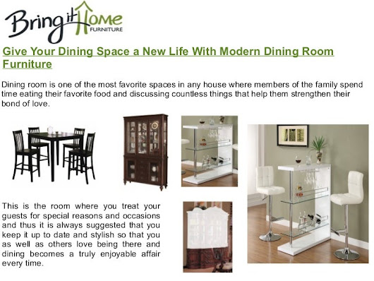 Give your dining space a new life with modern dining room furniture