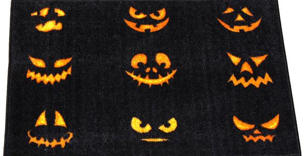 Jack Olantern Faces Halloween Rug Holidayrugsoutletcom