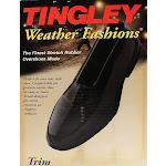 Tingley Weather Fashions Trim Rubber Overshoes, Black