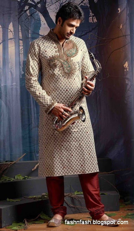 Kurtas Designs-Men-Male New Latest Silk-Cotton Kurta Style Design Collection5