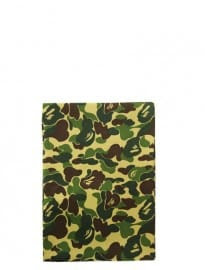 Mr Bathing Ape Abc Green Camo Print Silk Scarf