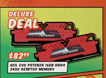 Deluxe Deal - GeIL EVO POTENZA 16GB DDR4 2400 Desktop Memory