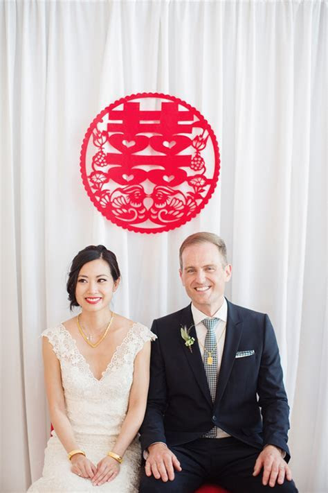 Modern Chinese wedding   Canada wedding   100 Layer Cake