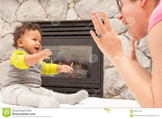 Happy Mother Child Warm Home Stock Photo - Image: 68291186