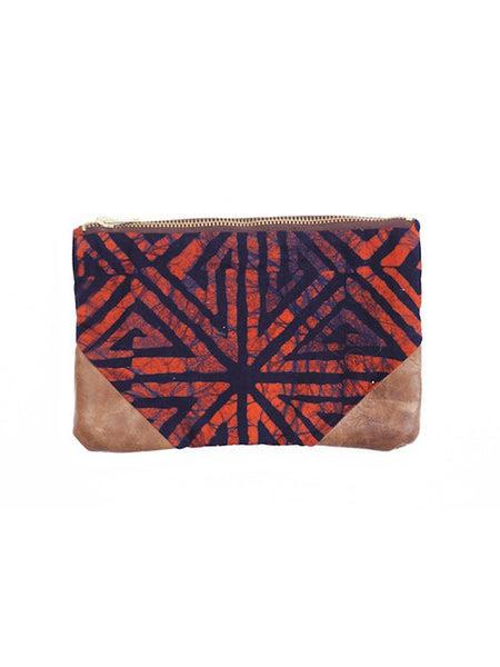 Batik Coral & Indigo Travel Bag