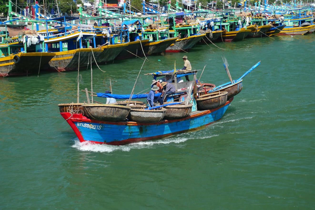 Vietnamese fishing boats from north of Saigon photographed by Matt