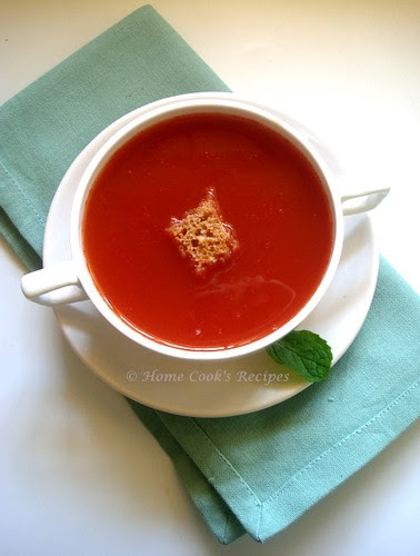 how to make tomato soup at home indian style home cooks recipe. Black Bedroom Furniture Sets. Home Design Ideas