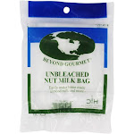 Beyond Gourmet Unbleached Nut Milk Bag 11 Inches x 9 Inches