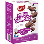 Katz Gluten Free Fudge Brownie Muffin Snacks 6 ounce box