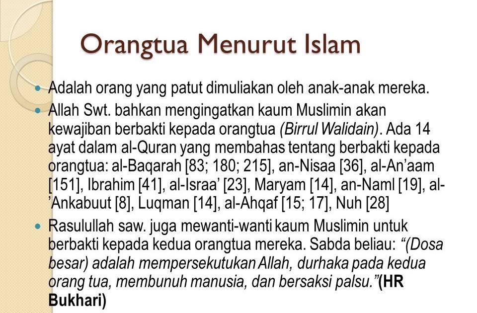Ayat Alquran Tentang Hormat Kepada Orang Tua Dan Guru ...