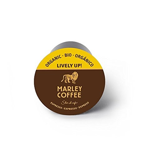 Marley Coffee, Lively Up!, Single Serve RealCup Organic Espresso Roast, for Keurig K-Cup Brewers, 24...