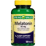 Spring Valley Sleep Support Melatonin Tablets, 10 mg, 120 ct
